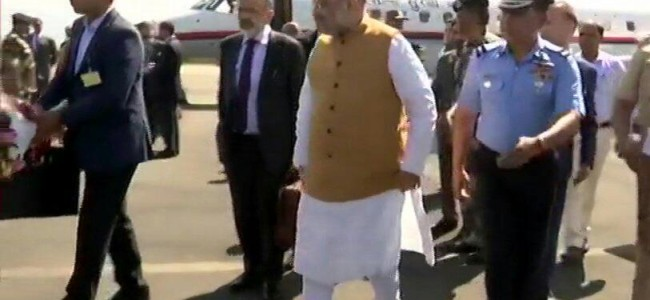 Amit Shah reaches valley for his maiden visit as Union Home Minister