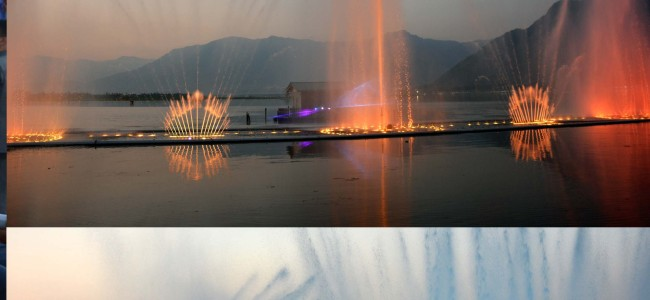 Guv launches Musical Fountain in Dal Lake near SKICC, regrets delay in making it available to tourists earlier