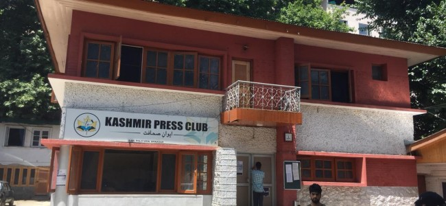 Kashmir Presss Club: Voting for the maiden representative journalists body commences