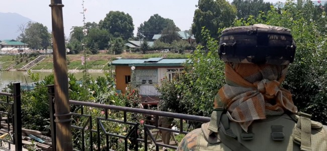 Forces conduct searches in Abi Guzar locality of Lal Chowk