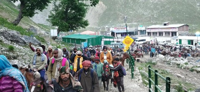 Amarnath yatra: Governor pays obeisance at Holy Cave; prays for sustained peace, harmony in J&K