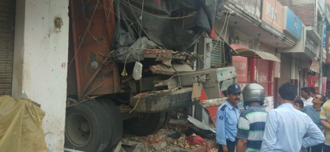 Truck rams into J&K Bank ATM installation, driver, conductor dead