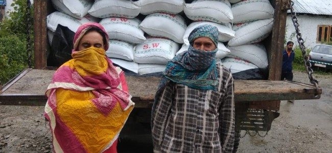 Government supply rice meant for black marketing seized, two arrested