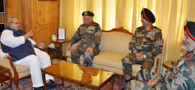 Army Chief meets Governor, discuss 'various important matters'