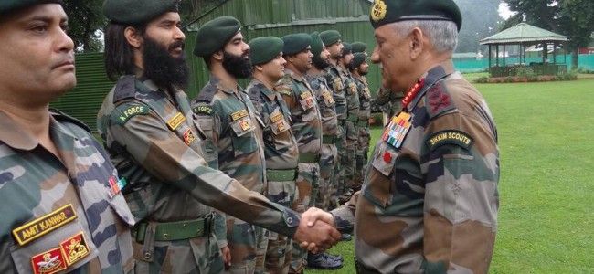 Army chief arrives on 2-day visit, asks troops to 'prepared to meet emerging security challenges'