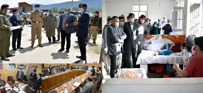 Div Com reviews containment measures for COVID-19 in Kupwara