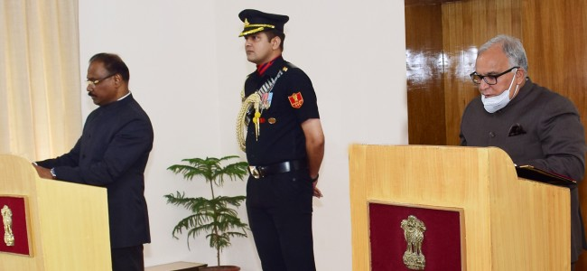 LG administers oath to BR Sharma as Chairman JKPSC