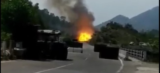 Blasts Rock Highway After Truck Carrying LPG Cylinders Catches Fire